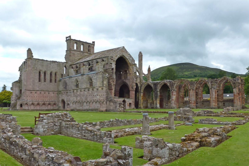 Eildon Hills and Melrose Abbey