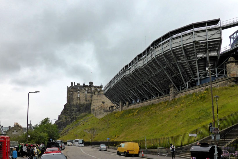Edinburgh Castle with stadium