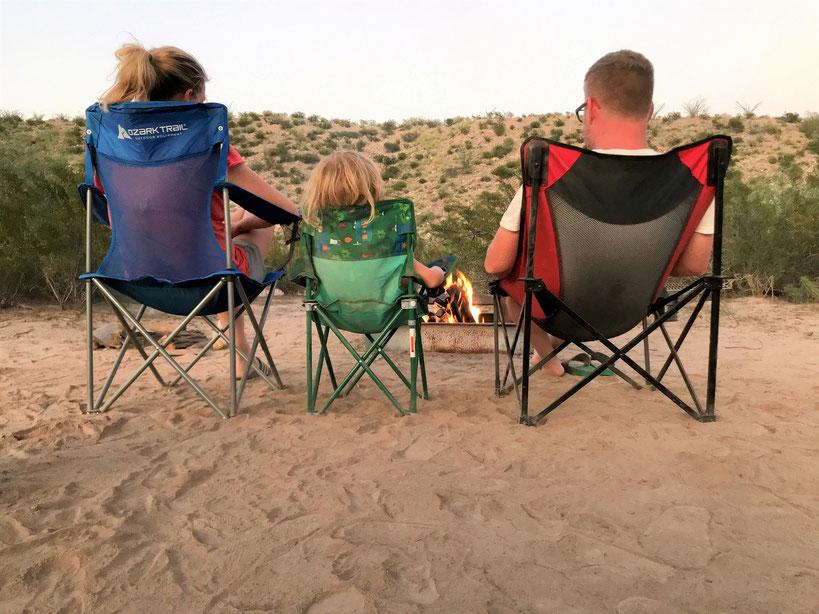 Zelten mit der Familie im Big Bend State Park.