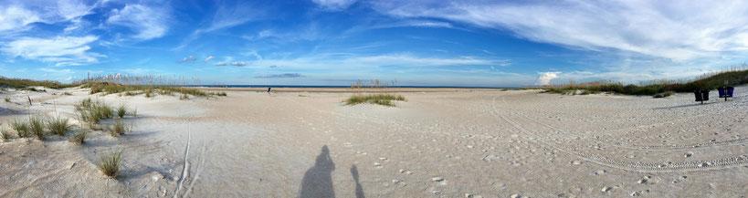 Der Strand des Anastasia State Parks in Florida.