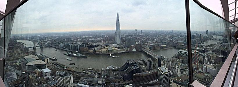 Aussicht vom Londoner Skygarden, Fenchurch Street 20