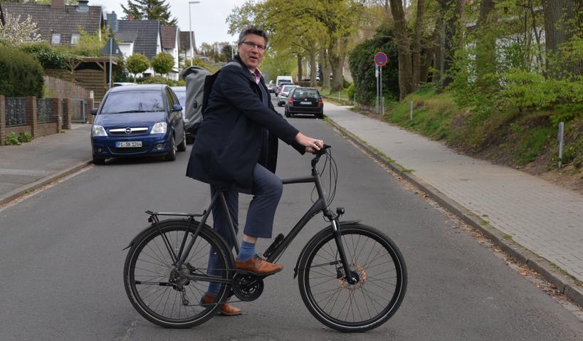 Fachbereichsleiter Carsten Möller zählt zu den eifrigen Fahrradfahrern in der Stadt