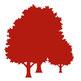 Icon Symbol Wald Bäume rot