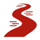 Icon Symbol Fluß rot