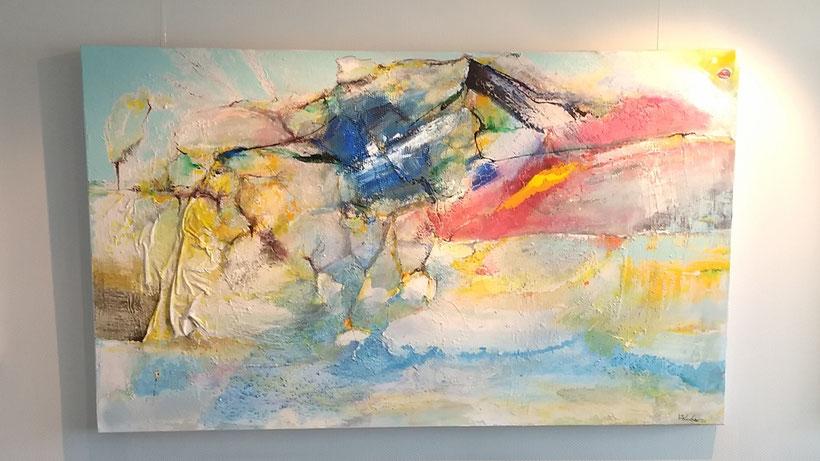 FINN 2020, Acryl auf Leinwand mit haptischen Struckturaufträgen, 170x100 cm