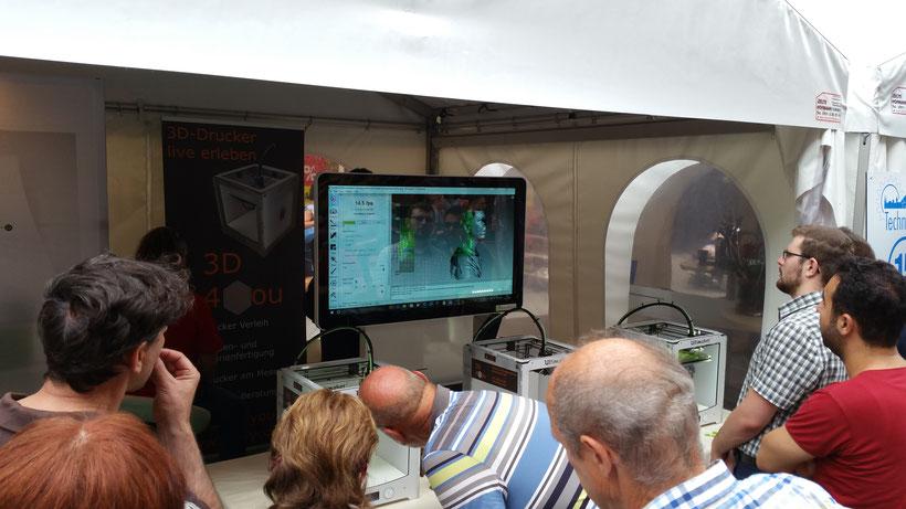 3D-Scan live auf der Nürnberger Technikmeile 2016