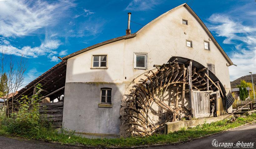 Urban; Urbex; Lost-Place; alt; verlassen; Old; Fotograf; Fotografie; Lenninger Tal; Lenningen; Mühle; Wasserkraft; Unterlenningen