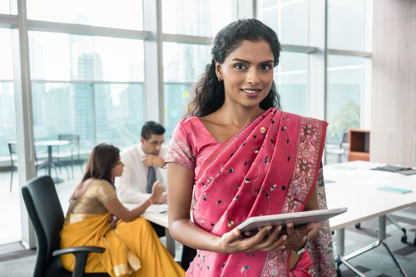 mujer india; vida laboral; empresaria; La India;