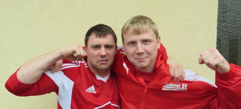 Die KSV-Kicker sind heiß ..... hier mit Matthias Mörke und Christian Welk (von links)