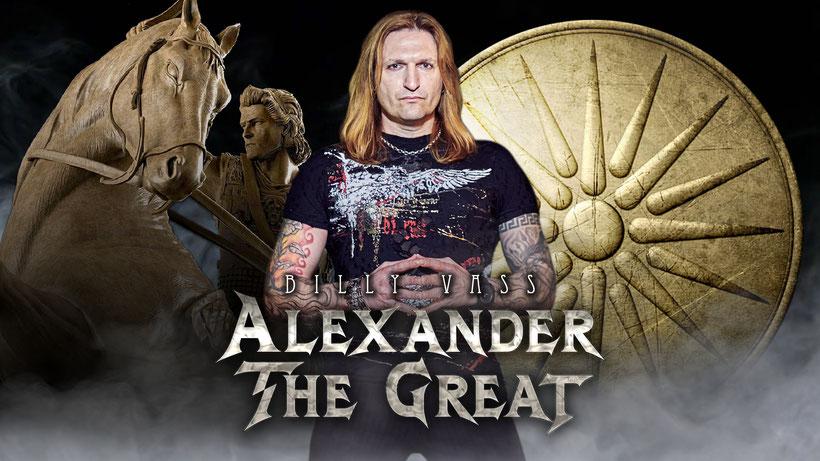 BILLY VASS, Alexander The Great, new single, Spider Music, Κώστας Γοντικάκης, Gontikakis Kostas, power metal, rockers and other animals, news