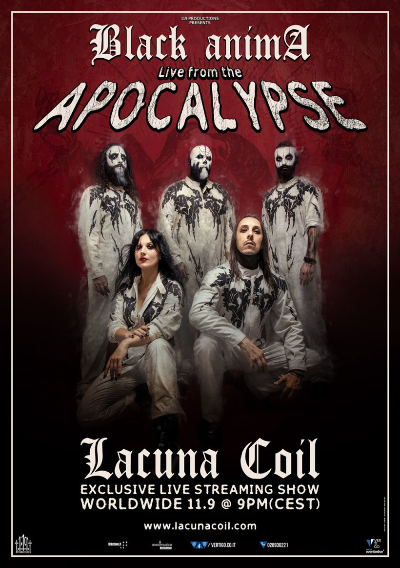 "LACUNA COIL announce  ""Black Anima: Live From The Apocalypse"", rockers and other animals"