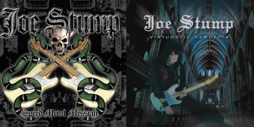 Joe Stump, limited edition,  'Speed Metal Messiah', 'Virtuostic Vendetta', rockers and other animals, lion music