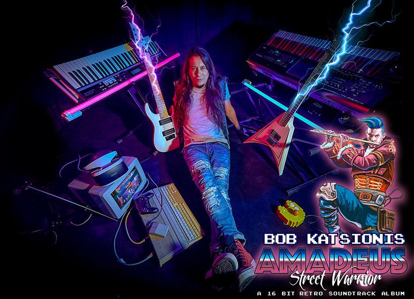 "BOB KATSIONIS – new album ""Amadeus Street Warrior"" - A 16-bit retro soundtrack album"