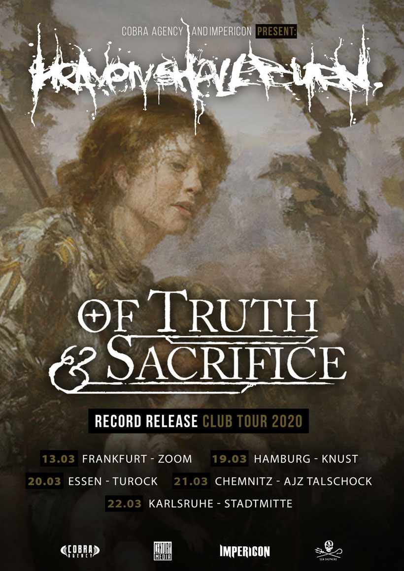 HEAVEN SHALL BURN, tour 2020, Germany, Of Truth and Sacrifice, rockers and other animals, news