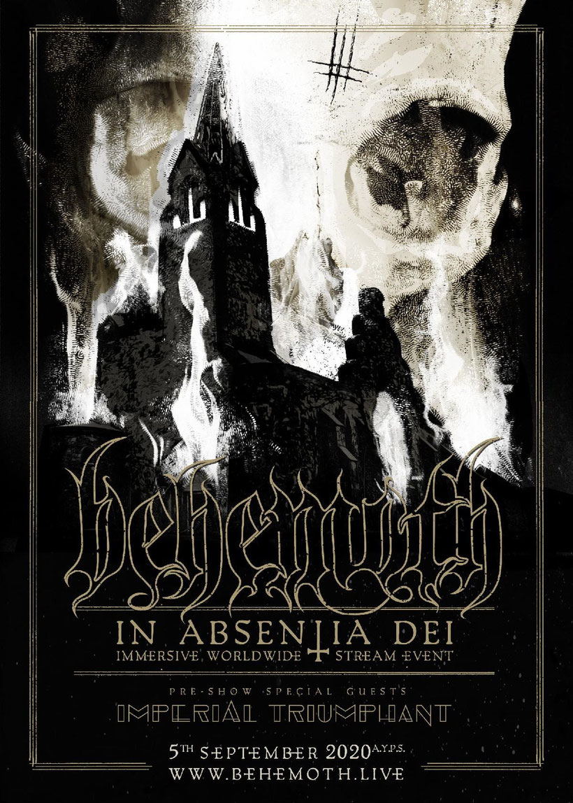 IMPERIAL TRIUMPHNAT, BEHEMOTH , Worldwid,  Stream Event , In Absentia Dei, rockers and other animals