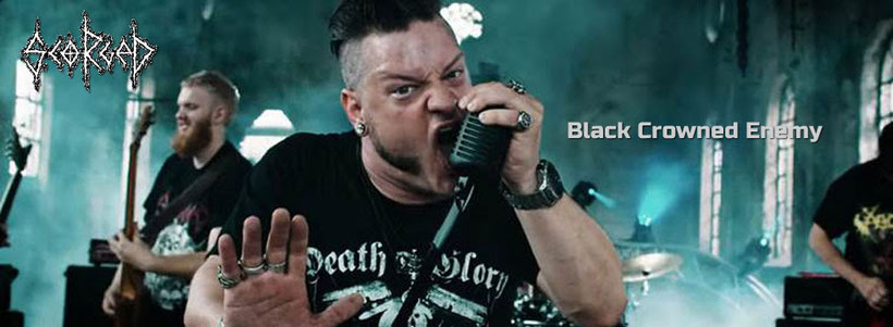 "SCORGED, Black Crowned Enemy"", music Video, New Single, rockers and other animals"