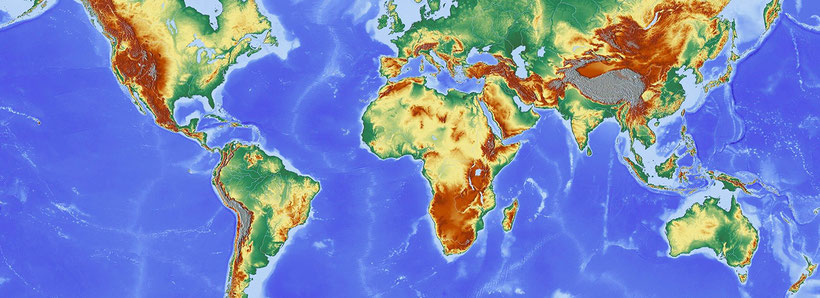 Deel van de wereld met Zuid-Afrika