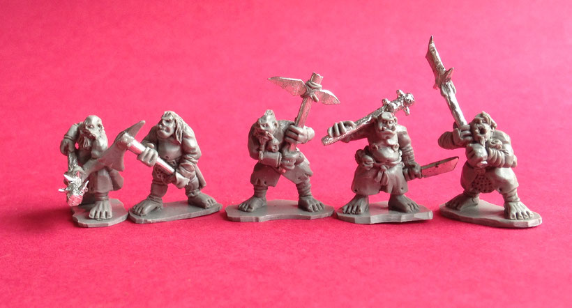 Five more Ogre Warrior sculpts. These guys are looking mean.