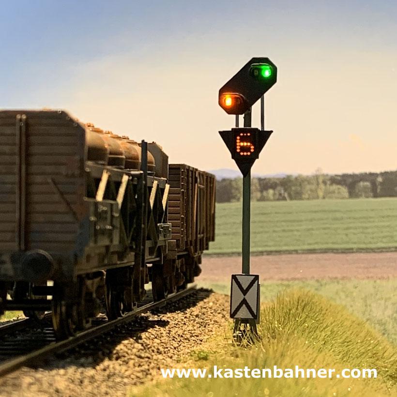 DB Vorsignal H0 Signal Bauart 69 1:87  Signale
