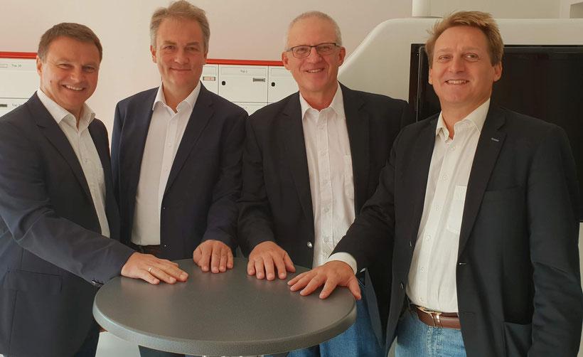 v.l.n.r.: Hubert Preisinger, Harald Schützinger, Thomas Reischauer, Andreas Gumpetsberger