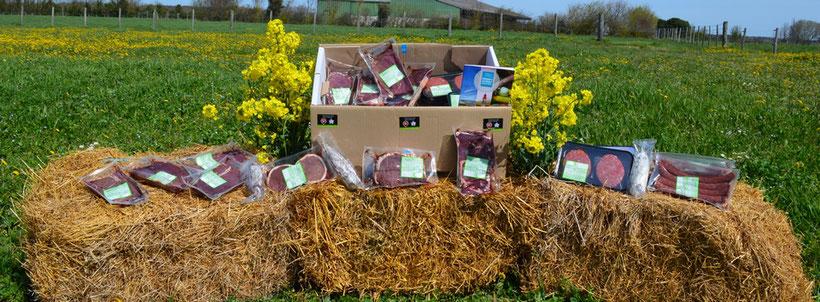 colis de viande bovine commercialisé par l'élevage GUINOT sur l'île d'Oléron