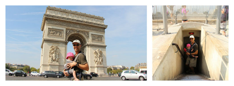 Arc de Triomphe Paris with Baby