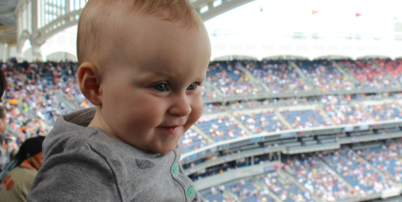 Yankee Stadium With Baby in NYC