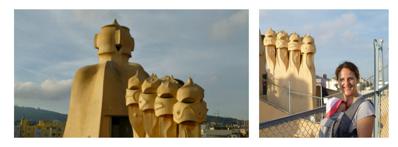 La Pedrera Barcelona with Baby - Stroller vs Baby Carrier
