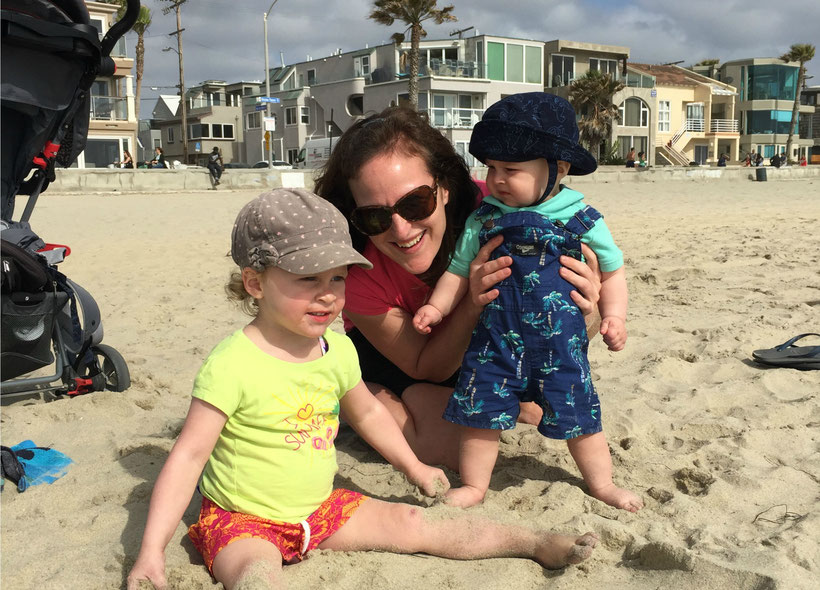 San Diego Mission Beach with a Baby and a Toddler