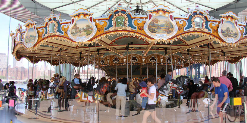 Brooklyn Bridge Park Carousel NYC Baby