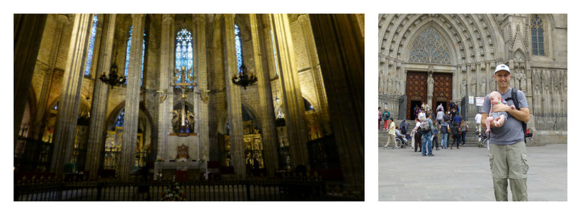 La Catedral Barcelona With Baby - Stroller vs Baby Carrier