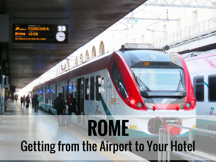 Rome has several options to get from the Leonardo da Vinci Fiumicino Airport (FCO) to your hotel without needing a car seat. |Family Travel | Travel with infant, baby or toddler | Rome, Italy | transportation #familytravel #travelwithbaby #rome #italy