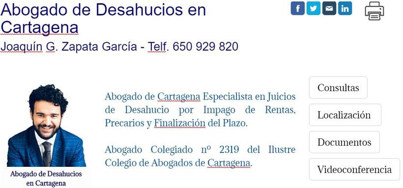 Abogado de Desahucios en Cartagena -Murcia