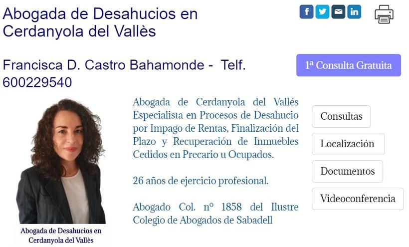 Abogado de Desahucios de Viviendas y Locales en Cerdanyola del Vallès