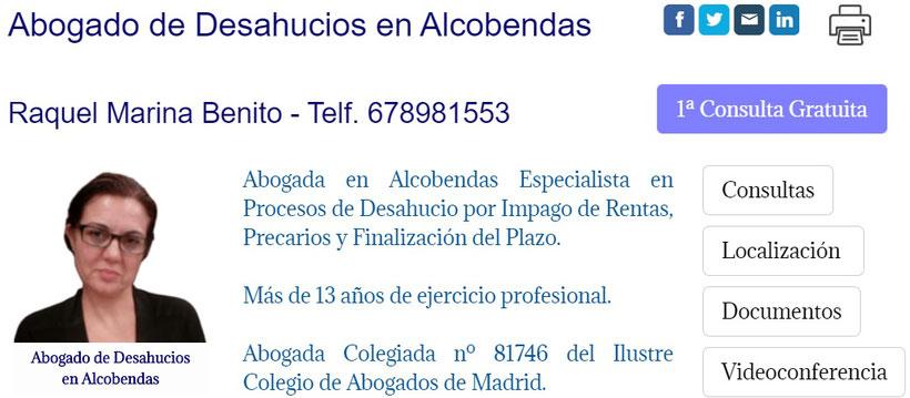 Abogada de Desahucios por Impago de Rentas en Alcobendas.