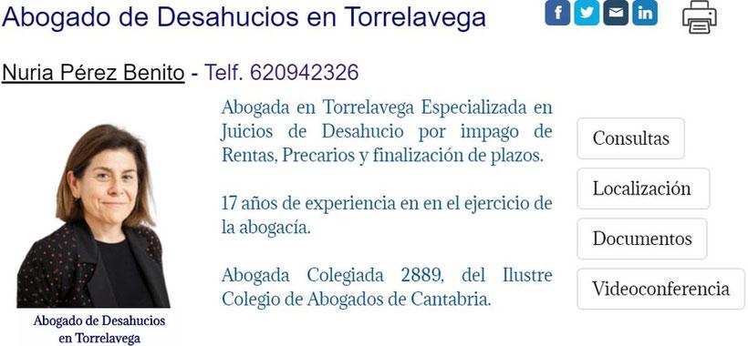 Abogada de Desahucios en Torrelavega-Cantabria