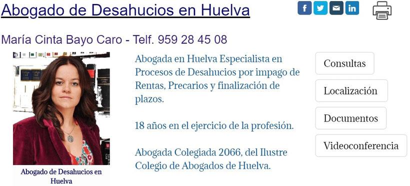 Abogada de Desahucios en Huelva