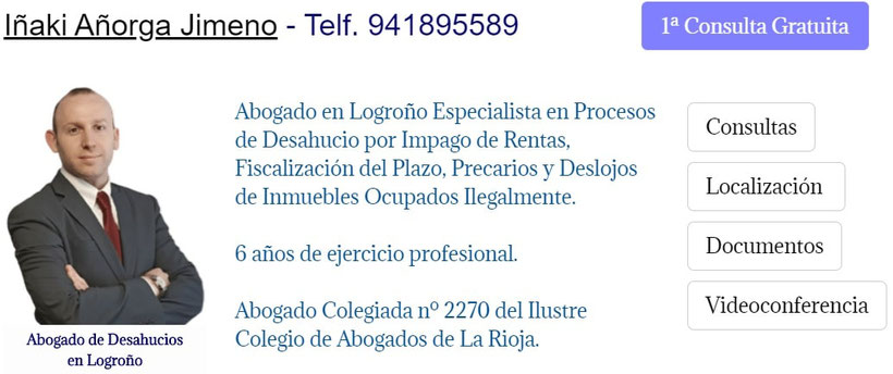 Abogado de Desahucios de Locales y Viviendas en Logroño - La Rioja