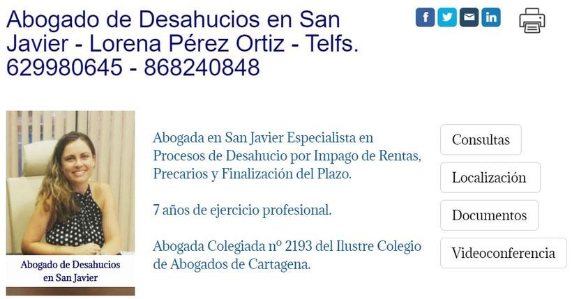 Abogado de Desahucios por Impago de Rentas en San Javier-Murcia.