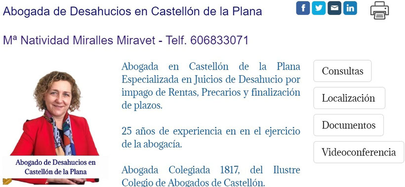 Abogada de Desahucios en Castellón de la Plana