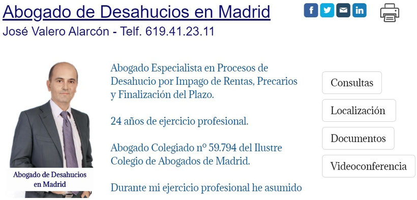 Abogado de Desahucios en Madrid - Enervar Desahucio por Impago de Rentas