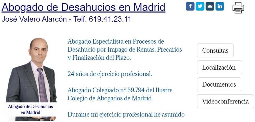 Abogado de Desahucios por Precarios Expareja en Madrid