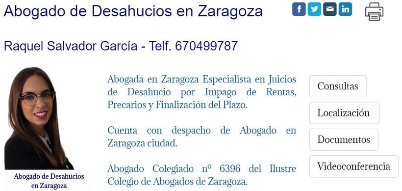 Abogado de Desahucios por Impago de Rentas en  en Zaragoza.
