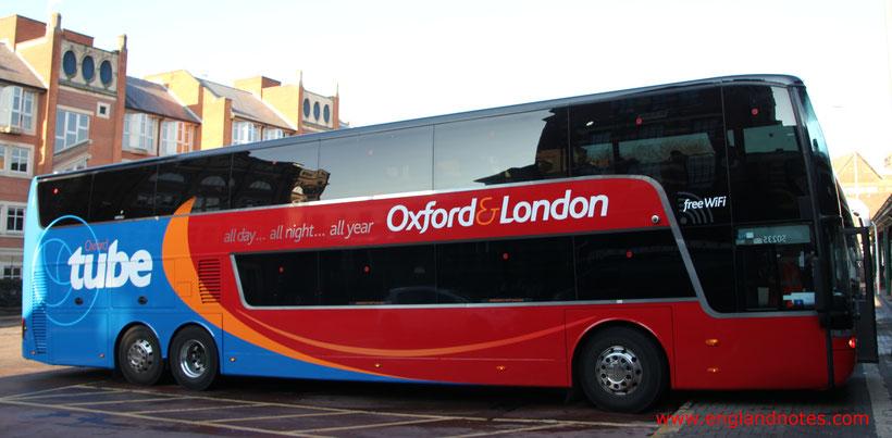 Busreisen in England mit Oxford Tube und Oxford Bus Company