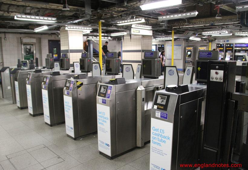 Die wichtigsten Reiseinformationen für London: Zugang zur U-Bahn in London