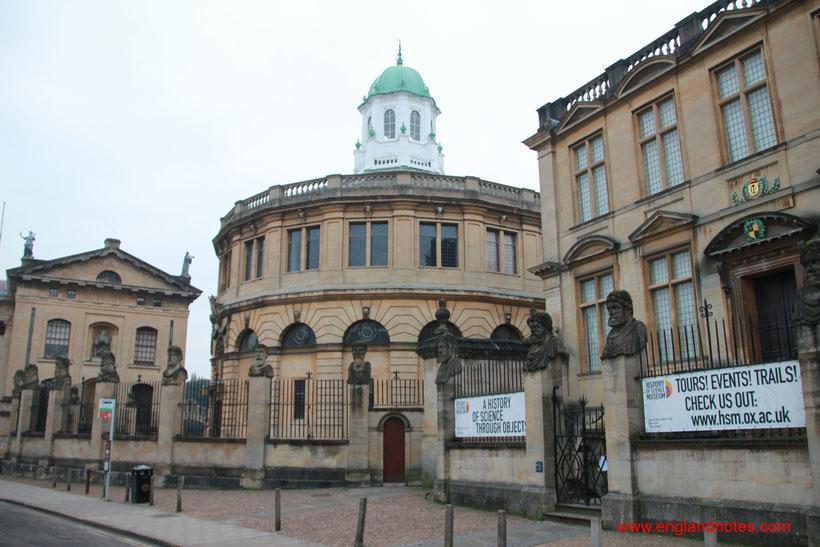 Sehenswürdigkeiten und Reisetipps Oxford: Sheldonian Theatre und History of Science Museum