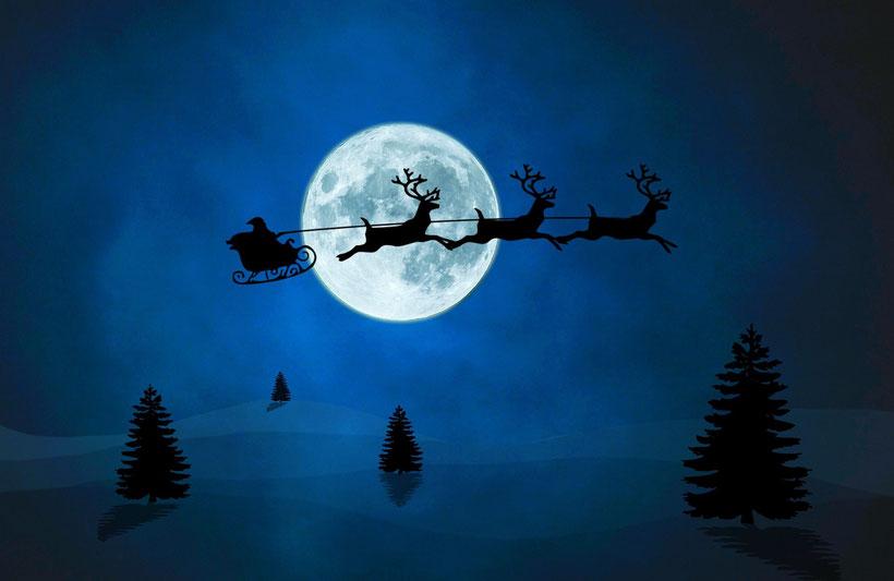 Englische Weihnachtstraditionen: Father Christmas und Rudolph das Rentier