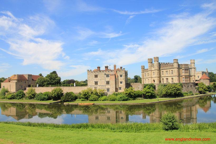 Die 10 schönsten Schlösser und Burgen in England: Leeds Castle, Kent, England