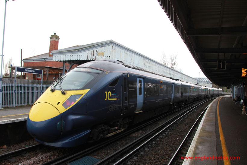 Mit dem Zug durch England reisen: Hochgeschwindigkeitszüge