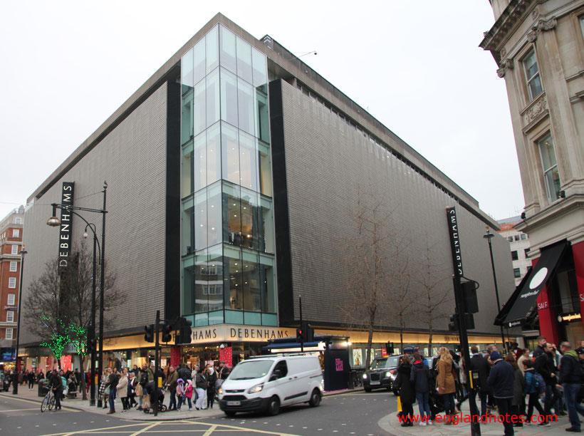 London Shopping Tipps: Die besten Kaufhäuser und Einkaufszentren in London - Debenhams